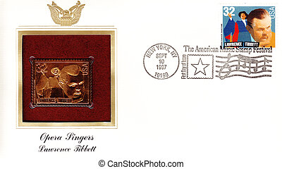 USA - CIRCA 1997: Envelope and stamp printed in USA ,...