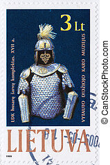 LITHUANIA CIRCA 2007: Stamp printed in Lithuania shows old...