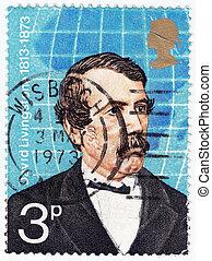 UK - CIRCA 1973 : stamp printed in UK showing David...