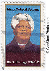 USA - CIRCA 2000 : stamp printed in USA shows Mary McLeod...