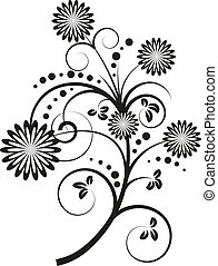 Vector illustration of floral design elements