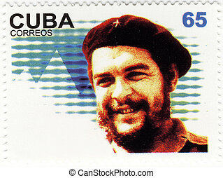 stamp with Ernesto Che Guevara of Cuba