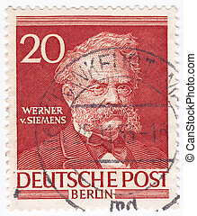 GERMANY - CIRCA 1953 : stamp printed in Germany showing...
