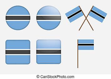 badges with flag of Botswana