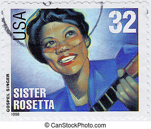 USA - CIRCA 1998 : stamp printed in USA shows Sister Rosetta...