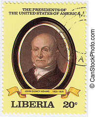 LIBERIA - CIRCA 2000 : stamp printed in Liberia shows sixth...