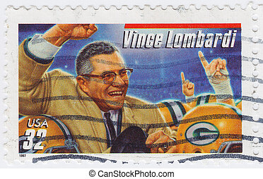 USA - CIRCA 1997: stamp printed in USA show Vincent Thomas...