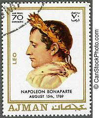 AJMAN - 1970: shows Napoleon Bonaparte (1769-1821) - AJMAN -...