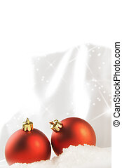 Seasonal background with Christmas decorations - Christmas...