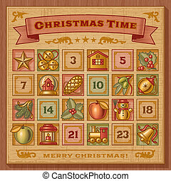 Vintage Christmas Advent Calendar - Vintage Christmas advent...