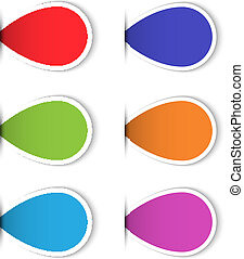 Set of colorful blank sticky labels for design