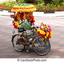 Trishaw D - Trishaw decorated with flowers