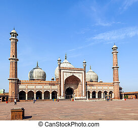 Jama Masjid Mosque, old Delhi, India. - famous Jama Masjid...