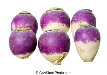 Turnips on White Background