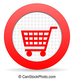 shopping, carreta, ícone