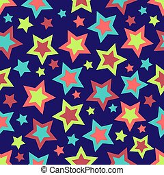 Bold Stars Background - Stars illustration in bold colors on...