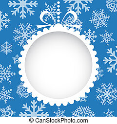 Christmas greeting card with white christmas toy