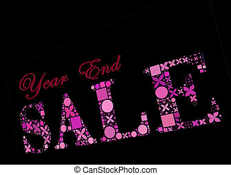 Untitled - Year End Sale symbol made from creative...