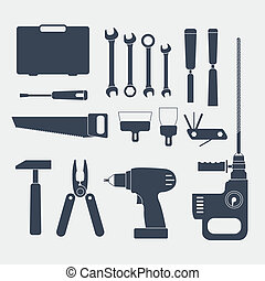 Electric and handy tool sillhouettes