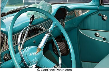 Classic car - Inside of a classic car