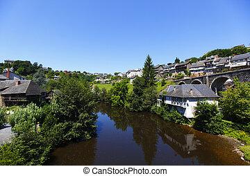 Uzerche village in France