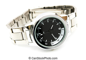 Handwatch - Close-up of a handwatch over white background.