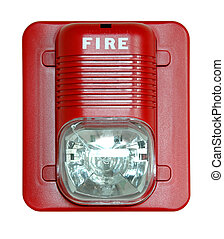 Fire Alarm - Fire alarm isolated over a white background.
