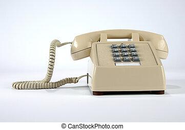 Retro Phone - Retro telephone over a neutral background