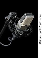 Årgång, mikrofon, gammal