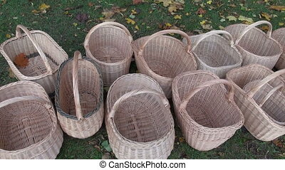 new handmade wicker baskets in agriculture fair