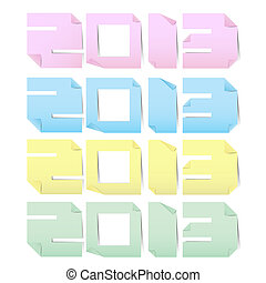 2013 colorful paper note stickers.