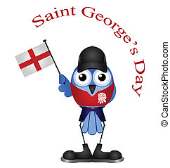 Saint George Day - Comical Saint George Day bird isolated on...