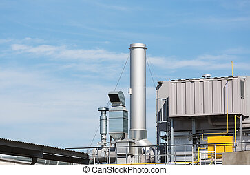 Ventilation system - Modern industry complex with...