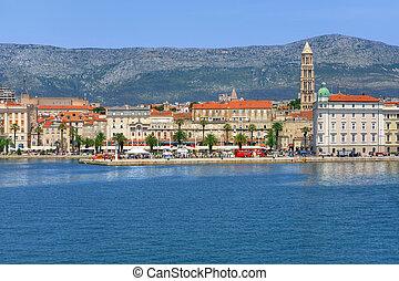 Harbour and promenade, Split town, Croatia