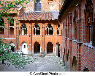 Malbork castle, biggest in Europe, Poland