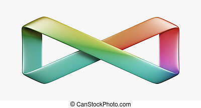 Infinity symbol - Colorful infinity symbol isolated on white...
