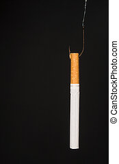 Hooked on Cigarettes - The concept of being hooked on...