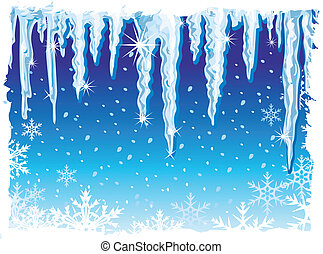 how to draw icicles hanging