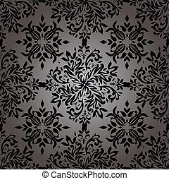 Abstract floral repeat - illustrated wallpaper design in...