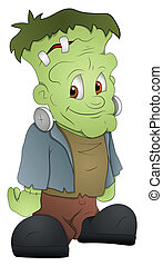 Frankenstein Cartoon Character - Creative Conceptual Design...