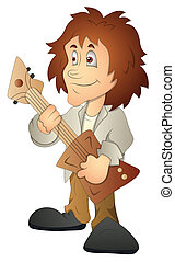 Rockstar Cartoon Character Vector - Creative Conceptual...