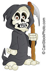 Cartoon Grim - Vector Illustration - Conceptual Creative...