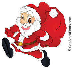 Cartoon Christmas Santa Vector