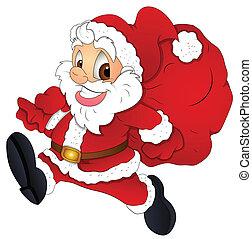 Cartoon Christmas Santa Vector - Conceptual Design Art of...