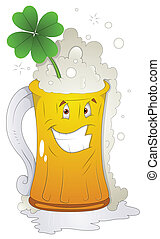 Beer Glass St Patrick's Day Vector