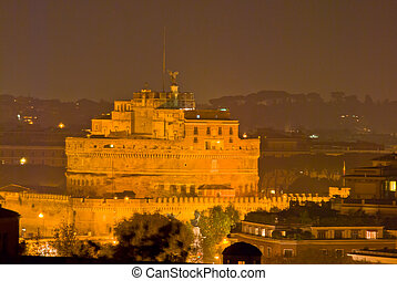 Castel Sant Angelo - famous Castel Sant Angelo in Rome at...