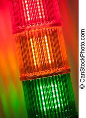 column of signal lights