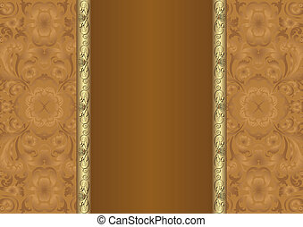 brown background with floral ornaments