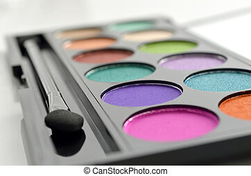 Makeup palette - Closeup of eyeshadow makeup palette