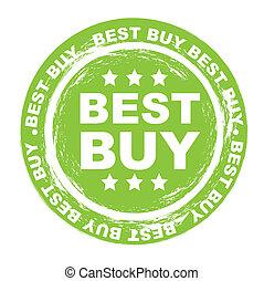 best buy stamp over white background vector illustration